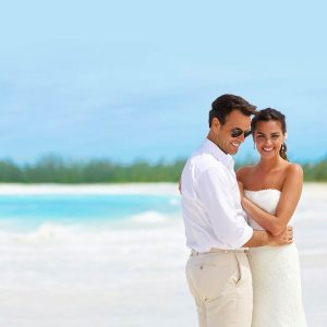 Romantic destination wedding at Sandals Resort
