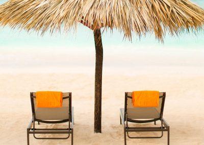 MBJIF_P217 Beach Tiki Umbrella Setup